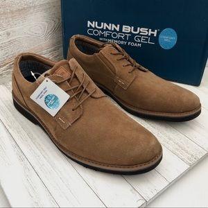 NWT Nunn Bush BARKLAY Suede Plain Toe Oxford